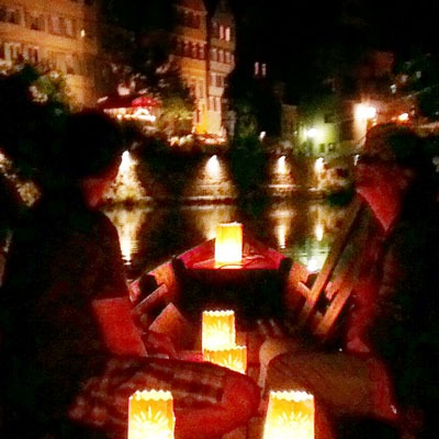 Romantische Candlelightfahrt